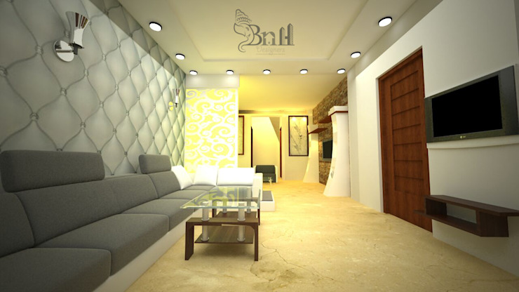Residential-3BHK-2400sft Modern corridor, hallway & stairs by BNH DESIGNERS Modern