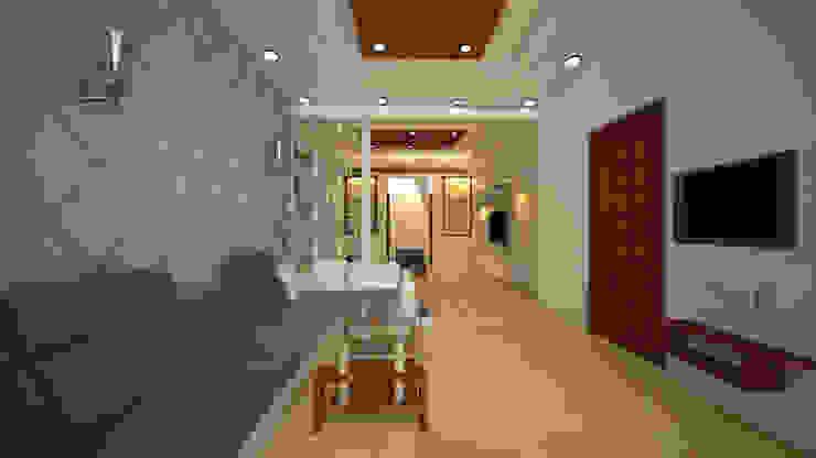 Residential-3BHK-2400sft Modern living room by BNH DESIGNERS Modern