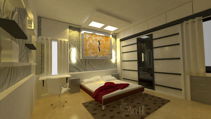 Residential-3BHK-2400sft Modern style bedroom by BNH DESIGNERS Modern