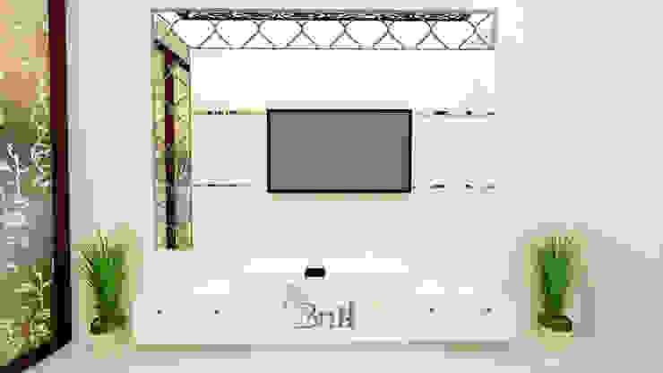 Residential Duplex Villa Modern living room by BNH DESIGNERS Modern