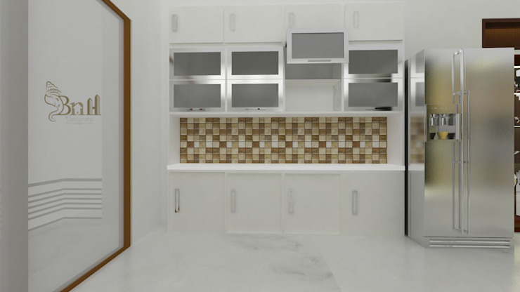 Residential Duplex Villa Modern kitchen by BNH DESIGNERS Modern