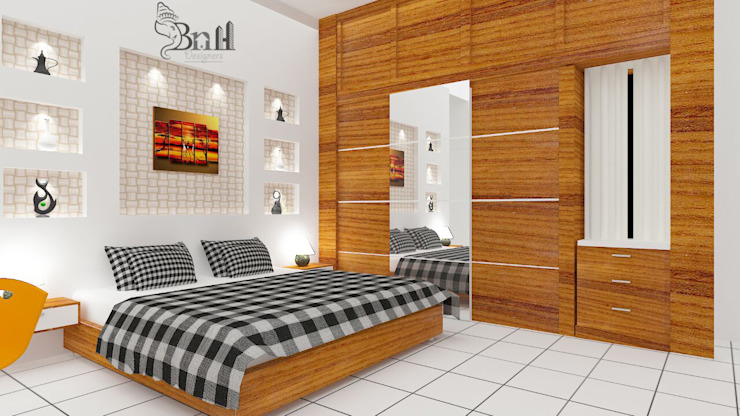 Residential Duplex Villa BNH DESIGNERS Modern style bedroom
