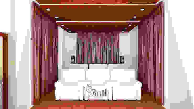 Residential Duplex Villa Modern media room by BNH DESIGNERS Modern