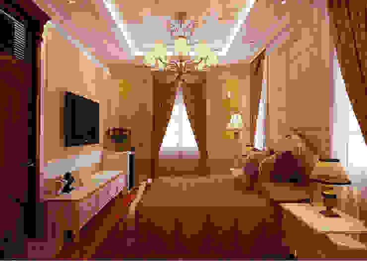 Biệt thự Tân cổ điển Ông Hòa - Hải Phòng Phòng ngủ phong cách kinh điển bởi CÔNG TY CP XÂY DỰNG VÀ KIẾN TRÚC ĐẤT VIỆT Kinh điển