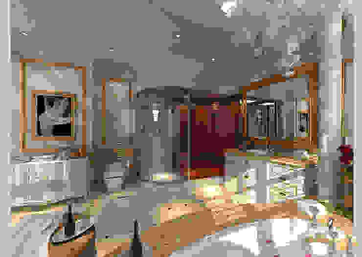 Biệt thự Tân cổ điển Ông Hòa – Hải Phòng Phòng tắm phong cách kinh điển bởi CÔNG TY CP XÂY DỰNG VÀ KIẾN TRÚC ĐẤT VIỆT Kinh điển