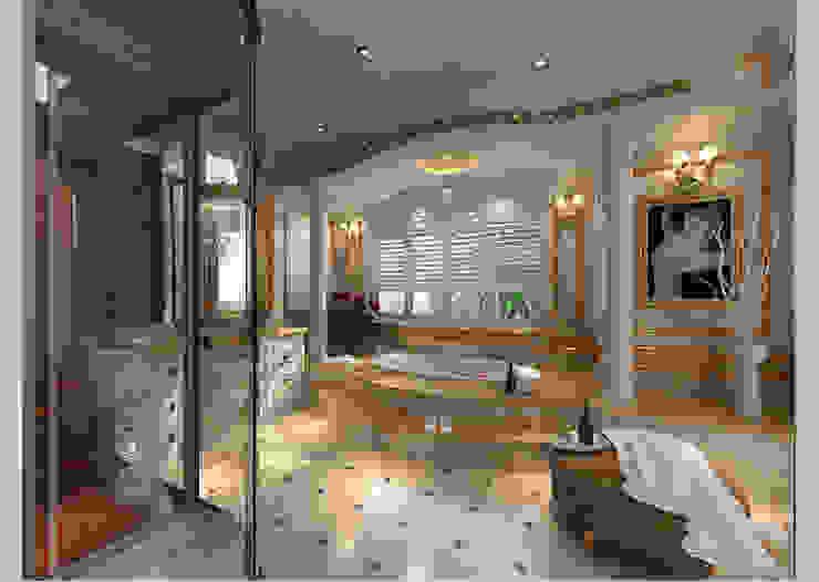 Biệt thự Tân cổ điển Ông Hòa - Hải Phòng Phòng tắm phong cách kinh điển bởi CÔNG TY CP XÂY DỰNG VÀ KIẾN TRÚC ĐẤT VIỆT Kinh điển