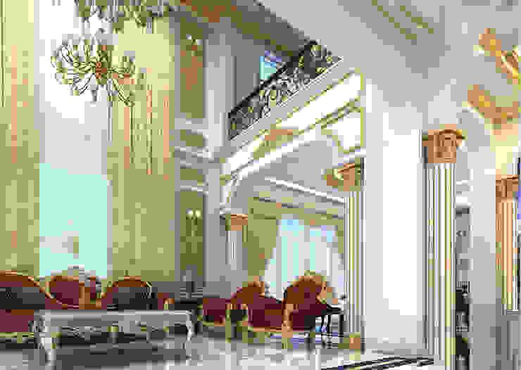 Biệt thự Tân cổ điển Ông Hòa - Hải Phòng Phòng khách phong cách kinh điển bởi CÔNG TY CP XÂY DỰNG VÀ KIẾN TRÚC ĐẤT VIỆT Kinh điển