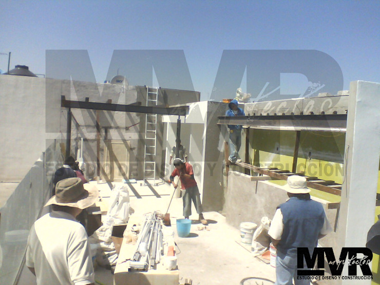 MVR ARQUITECTOS Remodelación Sky Garden Somático - Proceso de Trabajo MVR ARQUITECTOS Estudio de Diseño y Arquitectura Balcones y terrazas modernos