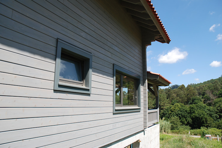 RUSTICASA Wooden houses Solid Wood Grey