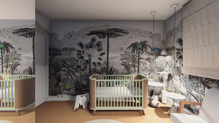 Nursery/kid's room by Lorenza Franceschi Arquitetura e Design de Interiores
