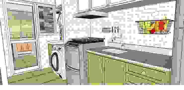 Modern kitchen by Lorenza Franceschi Arquitetura e Design de Interiores Modern Copper/Bronze/Brass