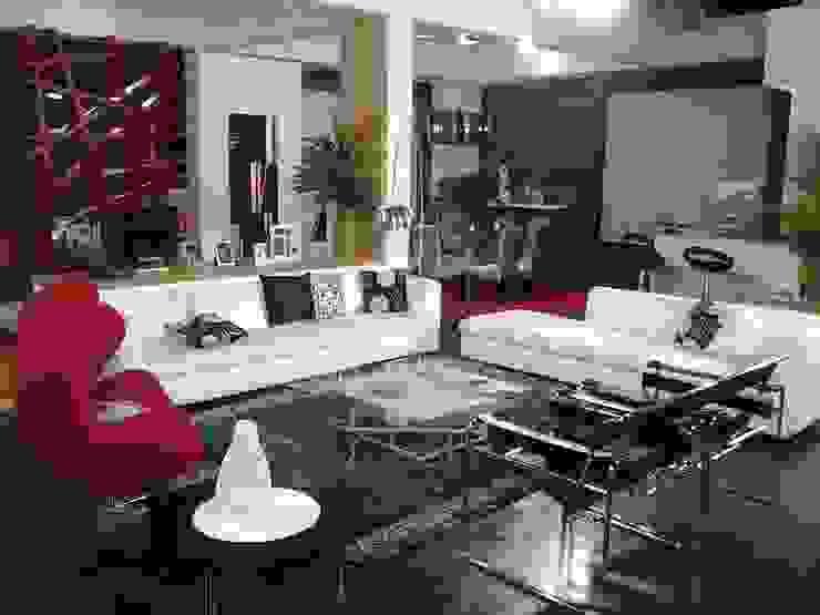 Decoración de sala y Acceso a aprtamento: Salas / recibidores de estilo  por ERGOARQUITECTURAS FL C.A.,