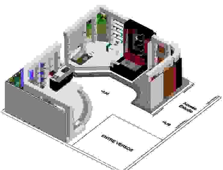 Estudio de grabación 270ª Salas de entretenimiento de estilo moderno de ERGOARQUITECTURAS FL C.A. Moderno Derivados de madera Transparente