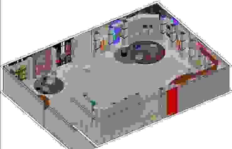 Escenografías ubicadas en 360º Salas de entretenimiento de estilo moderno de ERGOARQUITECTURAS FL C.A. Moderno Derivados de madera Transparente