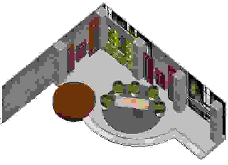 Set de entrevistas Salas de entretenimiento de estilo clásico de ERGOARQUITECTURAS FL C.A. Clásico Compuestos de madera y plástico