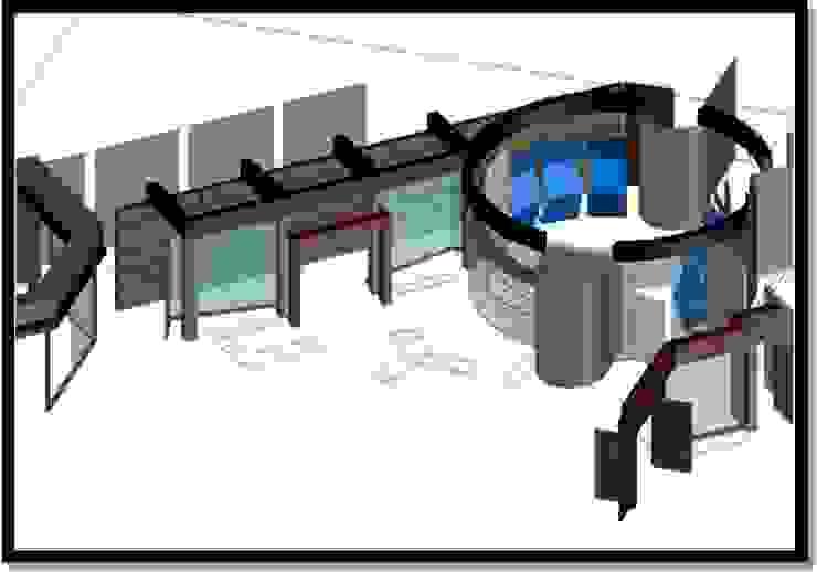 Pasillo de circulación y Hall de acceso Pasillos, vestíbulos y escaleras de estilo moderno de ERGOARQUITECTURAS FL C.A. Moderno Vidrio