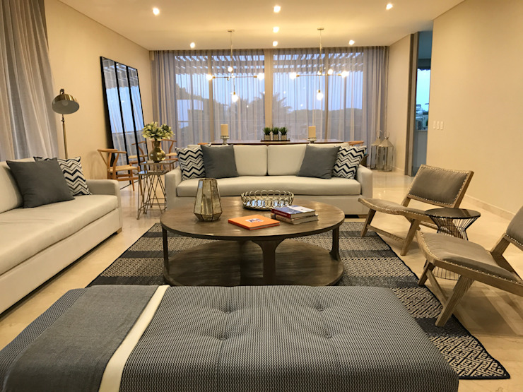 Sala Livings de estilo ecléctico de Ecologik Ecléctico