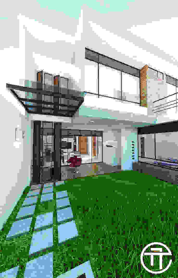 Patio interior. de Attica Arquitectura