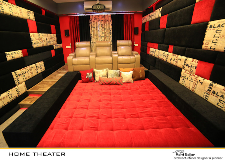Home Theater Modern media room by malvigajjar Modern