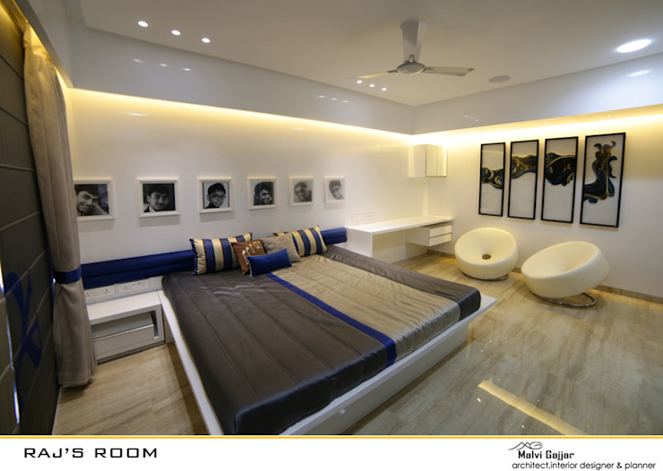 Bedroom Modern style bedroom by malvigajjar Modern