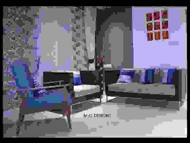 Drawing room Modern living room by malvigajjar Modern Engineered Wood Transparent