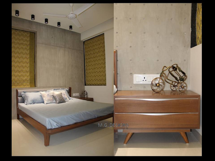 Bedroom Modern style bedroom by malvigajjar Modern Plywood