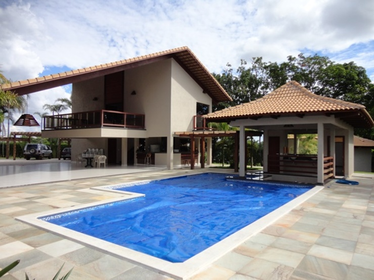 Country style pool by Guilherme Elias Arquiteto Country