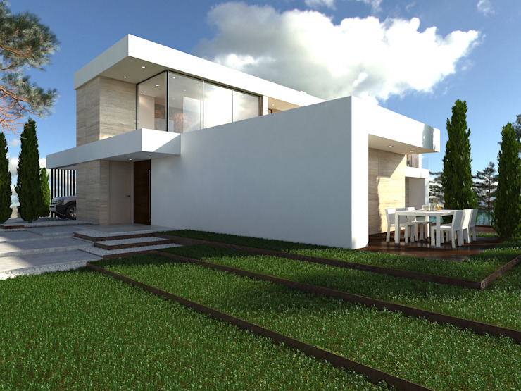 Rumah Modern Oleh L5F Arquitectura e Ingeniería | La Quinta Fachada Modern