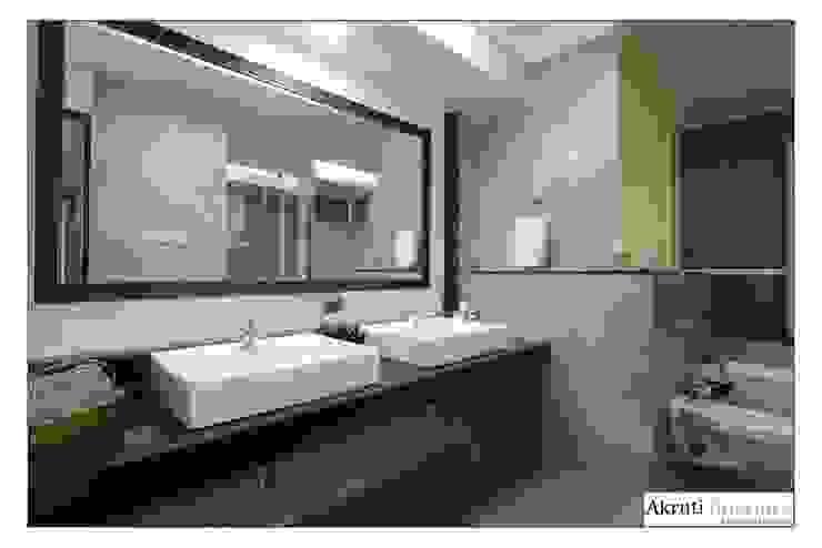 Master Bath Modern bathroom by Akruti Interiors Pune Modern Tiles