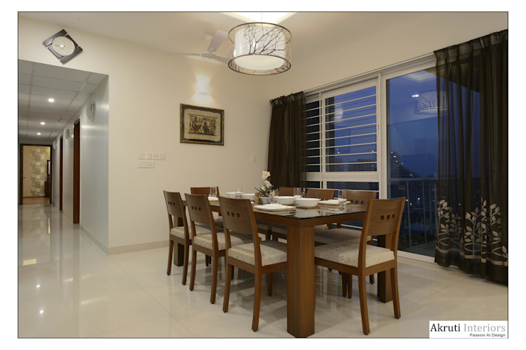 Dining: modern  by Akruti Interiors Pune,Modern Glass