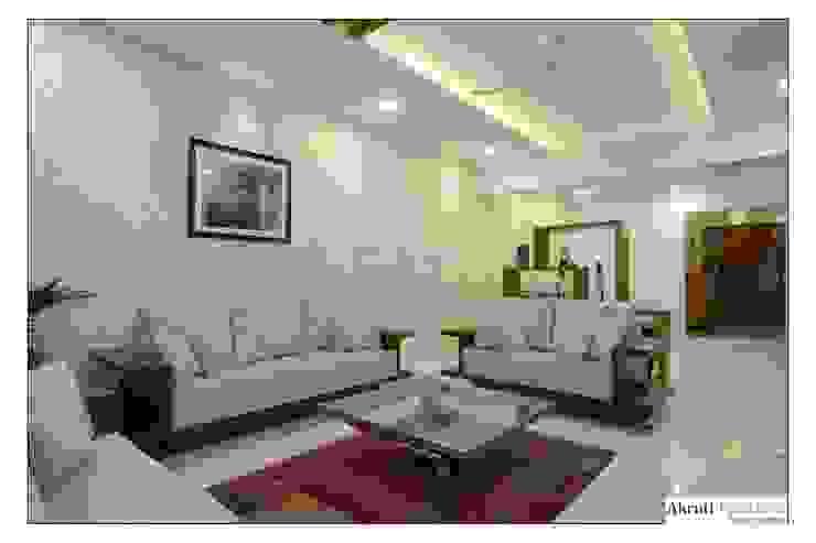 Living: modern  by Akruti Interiors Pune,Modern Wood Wood effect