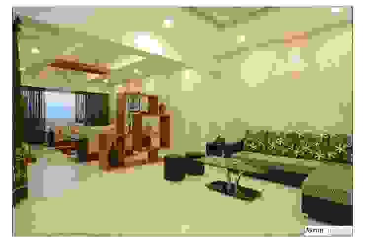 Living: modern  by Akruti Interiors Pune,Modern Feathers Black