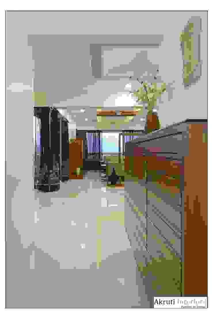 4 Bhk Apartment at Amanora, Pune Modern corridor, hallway & stairs by Akruti Interiors Pune Modern Plywood