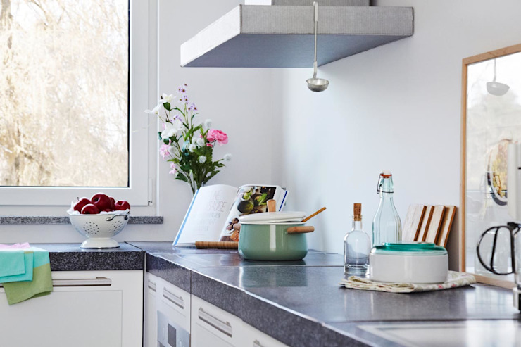 Home staging mit professionellen Fotos im Rohbau:  Küche von Olaf Tiedje FOTOGRAFIE,Modern