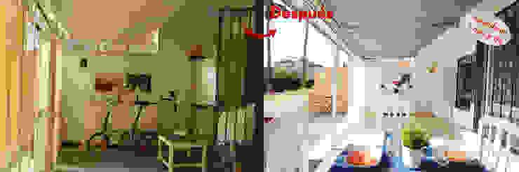 Terraza interior y exterior La Diseñoteca Home Staging & Interiors