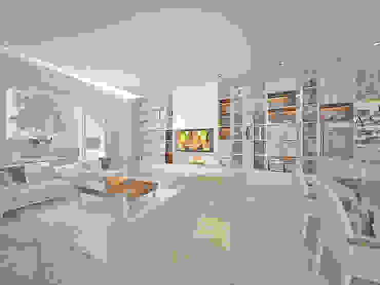 Vivienda LR – La Peregrina – Neuquén Capital Livings modernos: Ideas, imágenes y decoración de ARKIZA Moderno