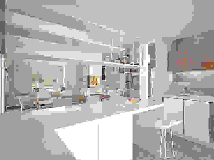 Vivienda LR – La Peregrina – Neuquén Capital Cocinas modernas: Ideas, imágenes y decoración de ARKIZA Moderno