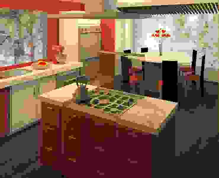 Кухни в . Автор – Perfil Arquitectónico, Модерн Дерево Эффект древесины