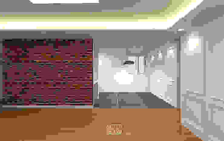 은하마을 49평 리모델링_ Design by Goeun 클래식스타일 다이닝 룸 by 디자인고은 클래식