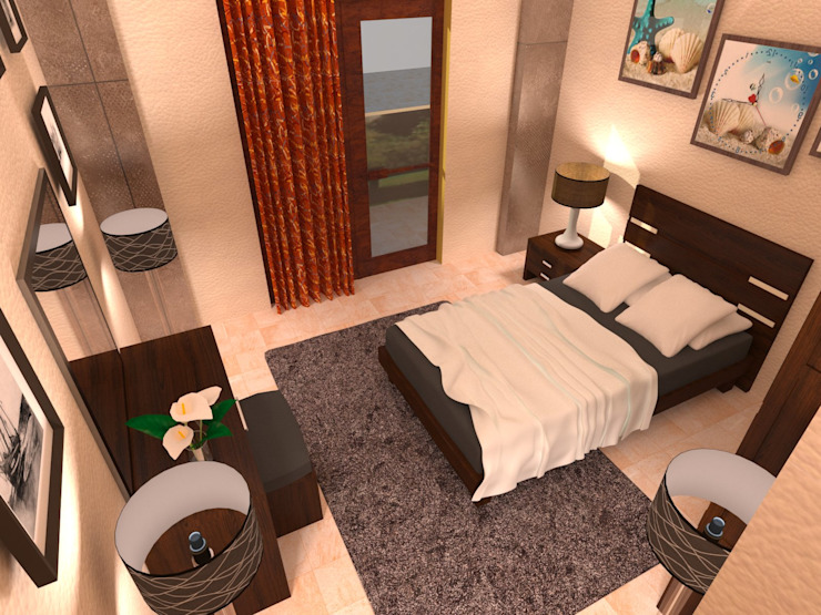 bedroom:  غرفة نوم تنفيذ Taghred elmasry, حداثي