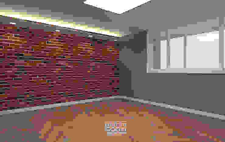 [부천인테리어] 49평 리모델링_ Design by Goeun 인더스트리얼 침실 by 디자인고은 인더스트리얼