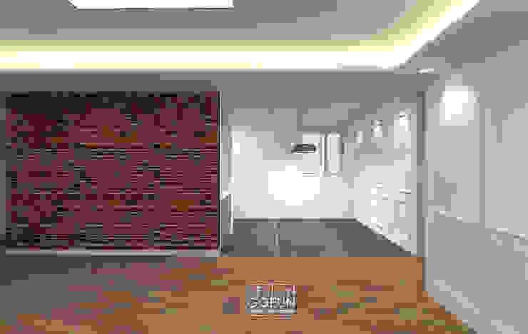 [부천인테리어] 49평 리모델링_ Design by Goeun 인더스트리얼 거실 by 디자인고은 인더스트리얼