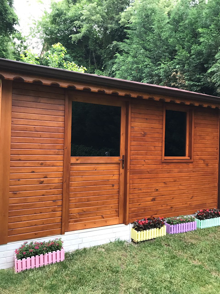 Erim Mobilya Pondok taman Kayu Buatan Wood effect