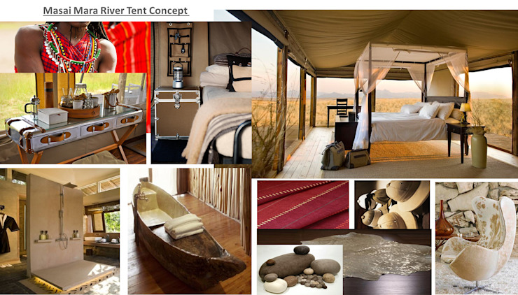 Masai Mara Eclectic style bedroom by House of Gargoyle Eclectic