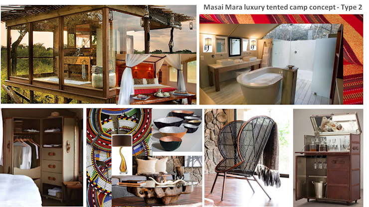Masai Mara Eclectic style bathroom by House of Gargoyle Eclectic
