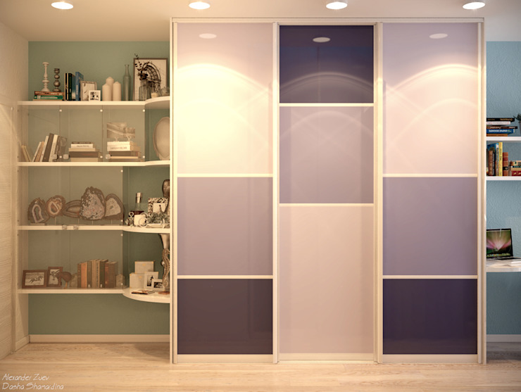 Bedroom by Студия интерьерного дизайна happy.design, Minimalist
