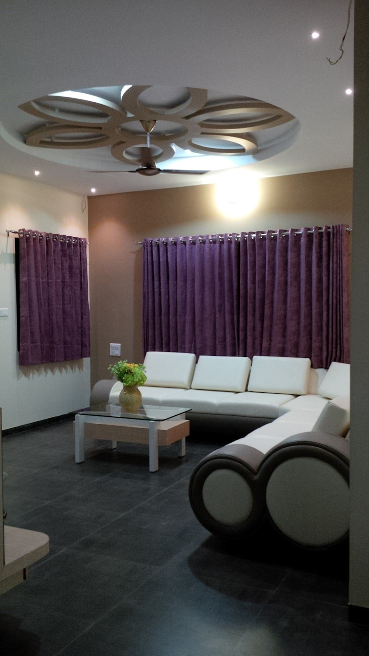 AOM Interior 现代客厅設計點子、靈感 & 圖片