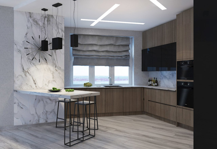 ДизайнМастер Industrial style kitchen Grey