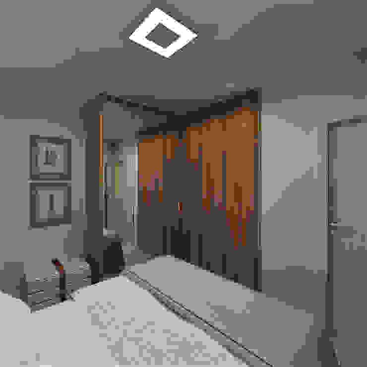 Minimalist bedroom by FS+Arquitetos Minimalist MDF