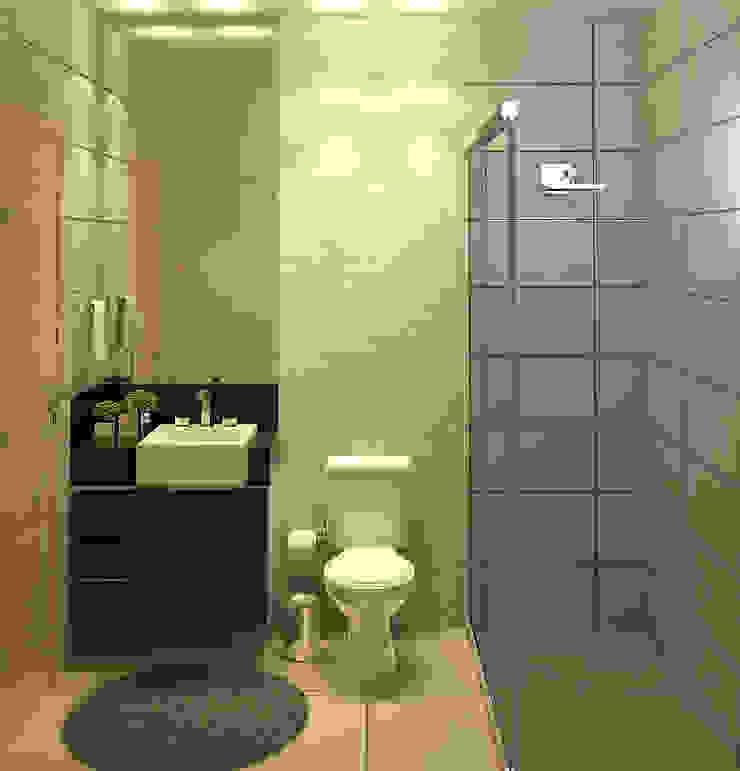 Modern bathroom by FS+Arquitetos Modern MDF